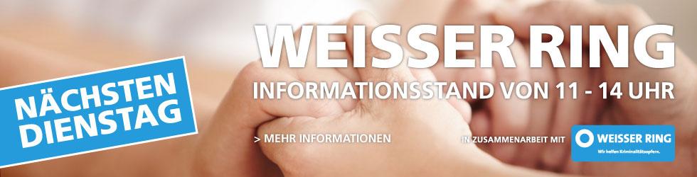 Infostand des Weissen Ring e.V. im Allee-Center Berlin